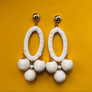 Anthro White Statement Earrings